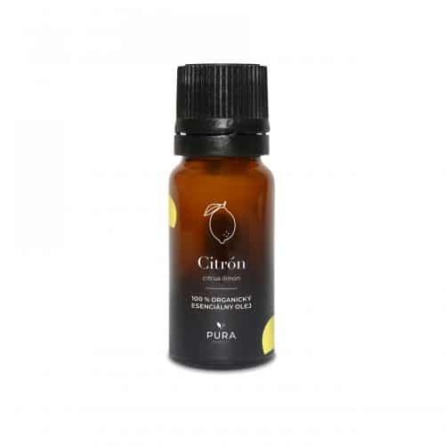 Citrón organický esenciálny olej fľaša