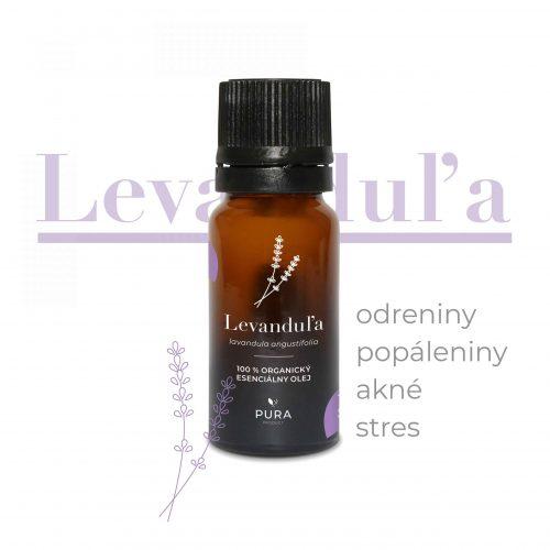 pura product levandula ogranicky esencialny olej popaleniny akne stres odreniny