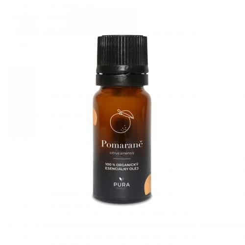 Pomaranč organický esenciálny olej fľaša